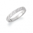 14kt White SIZE 05.00 Polished HAND ENGRAVED BAND