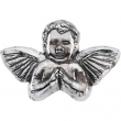 Sterling Silver 11.00X16.00 MM Polished PRAYING ANGEL LAPEL PIN