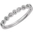 14kt White 7 Polished .04 CTW Diamond Ring