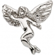 Sterling Silver 12.00X13.00 MM Polished DANCING ANGEL LAPEL PIN