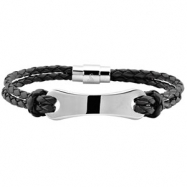 Picture of 08.50 INCH NONE 3MM LEATHER BRACELET
