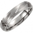 Titanium 07.50 5MM SATIN/POLISHED RIDGED BAND