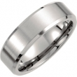Titanium SIZE 09.50 07.00 MM SATIN/POLISHED BEVELLED BAND