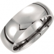 Titanium 06.50 08.00 mm POLISHED DOMED BAND