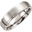 Cobalt 08.00 6.0 MM SATIN/POLISHED RIDGED BAND