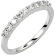 14KW 01.90MM; 1/4 CT TW P NINE STONE ANNIVERSARY BAND