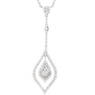 "Picture of 14kt White 7/8 CT TW 18"" Polished DIAMOND NECKLACE"