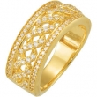 14kt Yellow 5/8 CT TW Polished ANNIVERSARY BAND