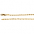 14kt White 7 INCH Polished 2.50 MM ROPE CHAIN (REP CH507)