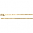 14kt White 7 INCH Polished 01.50MM ROPE CHAIN (REP CH505)