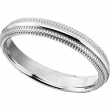 Titanium SIZE 09.00 04.00 MM POLISHED RIDGED DOUBLE MILGRAIN BAND