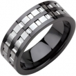 Ceramic & Tungsten 07.00 08.00 MM BLACK CERAMIC COUTURE NONE