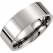 Titanium SIZE 08.00 08.00 MM POLISHED FLAT BAND