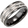 Ceramic & Tungsten 08.00 08.00 MM POLISHED CERAMIC COUTURE NONE