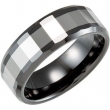 Ceramic & Tungsten 06.50 08.00 MM TUNGSTEN INLAY CERAMIC COUTURE NONE