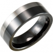 Ceramic & Tungsten 06.50 08.00 MM POLISHED CERAMIC COUTURE NONE