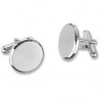 Stainless Steel PAIR NONE ROUND CUFFLINKS
