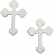 14kt Yellow PAIR 11.00X08.00 MM Polished CROSS EARRING WITH BACKS