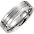 Titanium SIZE 08.50 06.00 MM SATIN/POLISHED GROOVED BAND