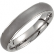 Titanium 07.50 05.00 MM POLISHED RIDGED OXIDIZED CTR DOMED BAND