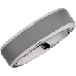 Titanium 08.50 07.00 MM OXIDIZED/POLISHED RIDGED BAND