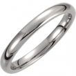 Titanium 06.50 03.00 mm POLISHED DOMED BAND