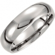 Titanium 07.00 06.00 mm POLISHED DOMED BAND