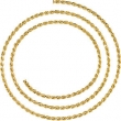 14kt Yellow BULK BY INCH Polished 02.50 MM ROPE CHAIN