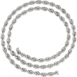 14kt White BULK BY INCH Polished 04.00 MM ROPE CHAIN
