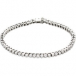 "14kt Yellow 3CTTW I1,GH   7 1/4"" Polished DIAMOND TENNIS BRACELET 7 1/4"""
