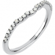 14kt White Band Complete with Stone 07.00 1 CTW Polished 1/4 CT W Band