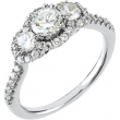 14kt White Engagement Complete with Stone 07.00 1 CTW Polished 1 CTW Engagement Ring
