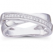 14kt White SIZE 06.00/ 1/6 CT TW Polished DIAMOND RING