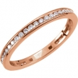 14kt Rose 3/8 CT TW Polished DIAMOND RING