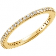 14kt Yellow Band 07.00 Complete with Stone ROUND VARIOUS Polished 1/3 CTW DIAMOND BAND