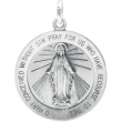 Sterling Silver 22.00 MM MEDAL ONLY Polished MIRACULOUS MEDAL W/OUT CHAIN