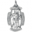 Sterling Silver 33.00X20.50 MM MEDAL ONLY Polished ST. FLORIAN MEDAL W/OUT CHAIN