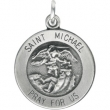 Sterling Silver 14.5 MM MEDAL ONLY Polished ST. MICHAEL MEDAL W/OUT CHAIN
