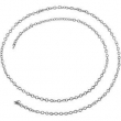 14kt White BULK BY INCH Polished SOLID CABLE CHAIN