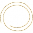 14kt Yellow BULK BY INCH Polished DIAMOND CUT CABLE CHAIN