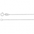 14kt White PER INCH Polished DIAMOND CUT CABLE CHAIN