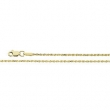 10kt Yellow 18 INCH Polished DIAMOND CUT ROPE CHAIN