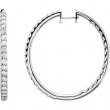14kt White 5 CTW Pair 5CTW Diamond Inside-Outside Hoop Earrings
