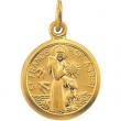 14kt White 10.15X12.00 MM Polished ST. FRANCIS OF ASSISI MEDAL