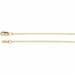 14kt Rose 18 INCH Polished LASERED TITAN ROPE CHAIN