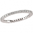 Platinum SIZE 06.50/ 1/2 CT TW Polished DIAMOND ETERNITY BAND