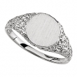 Sterling Silver RING Polished SIGNET RING