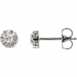 14kt White Complete with Stone Diamond 02.70 mm Pair Polished 3/8 CTW Diamond Earrings