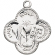 Sterling Silver 17.75 MM Polished FIRST HOLY COMMUNION MEDAL