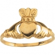 Sterling Silver RING Polished YOUTH CLADDAGH RING